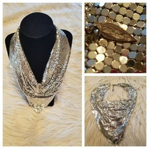Sexiest WHITING & DAVIS Silver Metal Mesh Necklace